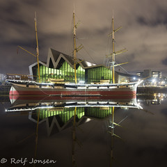Glasgow Transport Museum (rjonsen) Tags: clyde clydeside river water long exposure building structure architecture reflection wet clouds urban