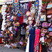 Yet another of the kitschy gift shops on the walkway to Tanah Lot shore temple, Bali
