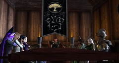 Avilion - Rogue Strategy meeting (Osiris LeShelle) Tags: seconlife second life avilion medieval fantasy roleplay rogue meeting gathering tavern dolly abduction
