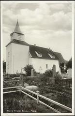 Postkort fra Agder (Avtrykket) Tags: eksteriør grav gravsted gravstein kirkegård middelalderkirke postkort grimstad austagder norway nor