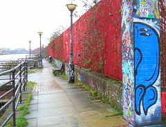 Canalside graffiti in Manchester (Tony Worrall) Tags: gmr manchester manc city northwest salford urban canal street streetart paint painted wall show urbanart daub made graffiti mural art artist arty colourful welovethenorth nw north update place location uk england visit area attraction open stream tour country item greatbritain britain english british gb capture buy stock sell sale outside outdoors caught photo shoot shot picture captured ilobsterit instragram