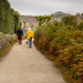 Couple and dog, The Scilly Isles, UK