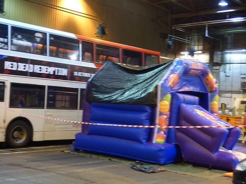 Yardley Wood Bus Garage 80th Birthday Bouncy Castle A Photo On