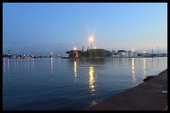 Porto Corsini (Moro972) Tags: port silos border iphone6 italia italy luci light notte night sera dusk acqua 2018 mare portocorsini