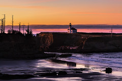 Cape Arago Light (docoverachiever) Tags: lighthouse charleston building historic water nationalregisterofhistoricplaces capearagolight confederatedtribes beach ocean oregon 1934 chiefsisland sunset landscape coast scenery oregoncoast