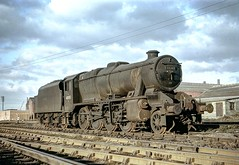 8F 48761 in evening sun at cardiff East Dock MPD in April 1965 by John Wiltshire: Peter Brabham collection (peter.brabham) Tags: john wiltshire steam