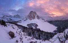 Joy | Niblet, Mount Assiniboine, Canadian Rockies (v on life) Tags: niblet mtassiniboine mountassiniboineprovincialpark mountassiniboine winter alberta britishcolumbia banff snow pano panorama panoramic canada canadianrockies frozen frozenlake trees sunburstlake sunburstpeak jasper ceruleanlake magoglake lakemagog nublet nubpeak