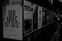 Messages (ronramstew) Tags: billboards liverpool merseyside bw black white night city