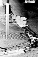Journey to Family Home [Photo Series] Negative (Callums art) Tags: negative negatives negativephoto negativephotos negativephotography photonegative photonegatives invert inverted invertedphoto street streetlight light lights photoshop filter creative pedestrian photowalk pavement road roadside puddle puddles winter evening night car cars vehicle