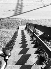 Shady patterns (Sibeal's world) Tags: structures patterns monochrome blackandwhite blackwhite bw stairs shades