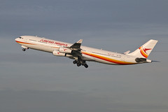 Airbus A340 PZ-TCR Surinam Airways (Jarco Hage) Tags: schiphol amsterdam ams eham byjarcohage aviation airplane vliegtuig aircraft vliegtuigen nederland netherlands airport airbus a340 pztcr surinam airways