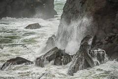 Waves (KPortin) Tags: ocean surf spray rocks cliffs headlands oregon otterpoint