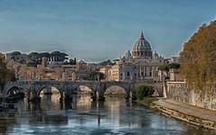 La capitale del 2018 (giumichi) Tags: roma capitale paesaggio tevere ponte vaticano sanpietro cupola biondo