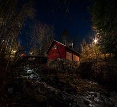 Mill in the Night (Mygii) Tags: finland mikkeli samyang night longexposure cabin