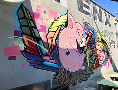 Arrogant Swine Porker by Vers718 (wiredforlego) Tags: graffiti mural streetart urbanart aerosolart publicart williamsburg brooklyn newyork nyc ny cost enx vers718