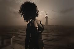 NightFall@La Frontera (♡ Ɗ A K O T A L E I G H ♡) Tags: secondlife sim sea sky landscape lafrontera lighthouse catwa ava maitreya