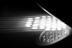 MM: Dots and Stripes (donnicky) Tags: dotsandstripes macromondays abstraction artificialillumination blackbackground blackwhite closeup dark dot geometricshape indoors light macro nopeople pattern publicsec reflection shadow singleobject spotlight stripe studioshot