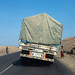 Overloaded truck coming from djibouti port, Afar region, Semera, Ethiopia