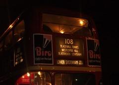London transport RTL1163 displays route 108 at the rear in Blackheath 24/11/18. (Ledlon89) Tags: rtl rtlbus leylandtitan lt lte london bus buses londonbus londonbuses londontransport transport vintagebuses parkroyal