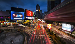 Jalan Bukit Bintang Malaysia (abduljalilhassan975) Tags: landscape light lightrail longexpose lines lighting monorail kualalumpur bluehour building malaysia evening blending dri nikon nikond7000