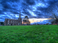 The Green Green Grass (RS400) Tags: hdr churh church frenchay sky clouds buildings art building grass green tree trees landscape uk southwest wow cool travel outside olympus photography photomax