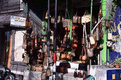 A store specializing in Balinese handicrafts, notably bags (shankar s.) Tags: seasia indonesia java bali islandparadise baliisland touristdestination kutabali tjamuhanridgewalk campuhanridgewalk balinesehandicraft traditionalbalineseartsandcraft handbags totebags shop touristshop bagstore souvenirshop localcommerce ethnicstore ethnicshop