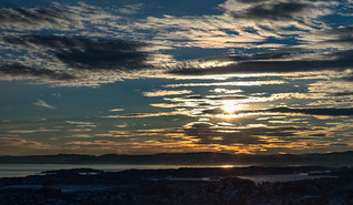 Sunset - Oslo and Oslo fjord