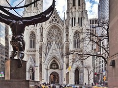 St. Patrick Cathedral, New York (elnina999) Tags: newyork architecturephotography architecturalelements church exterior stpatrick saintpatrickscathedral architecturaldetails pixelphonephotography mobilephotography religion building downtown manhattan touristattractions scenic travel urban