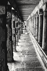 Perspective - Lord Shiva temple (Thiruvannamalai - South India) (Vijay Mani) Tags: monochrome architecture blackandwhite temple leadinglines sculptures india southindia thiruvannamalai