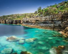 _DSC6063-Edit-1Med (ian_underthesea) Tags: aqua blue cliff rocks reef nsw jervis bay long turquoise australia coastal eastcoast