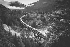 Moody January Days (elevation-media) Tags: via viarail fraserriver frasercanyon andersoncreek thecanadian passengertrain explorecanada