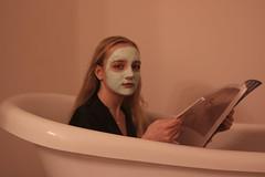 jul3 (gracehogann) Tags: girl lipstick face mask facemask tub mirror bath
