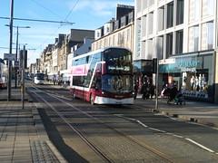 Lothian 491 eastbound on Princes Street, Edinburgh. (calderwoodroy) Tags: eclipsegemini3 wrightbus b5tl volvo sf17voc 491 service26 edinburghtransport transportforedinburgh lothianbuses lothian lothian100 lothianbusescentenary doubledecker bus princesstreet edinburgh scotland
