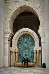 Fountain at Hassan II Mosque, Morocco (Bokeh & Travel) Tags: hassaniimosque mosque fountain morocco africa kingdomofmorocco colour colourful architecture beautiful hassanii king kingdom muslim islam islamic arch marble mediterranean