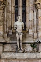 In The Sanctuary 8 (Gene Mordaunt) Tags: lisbon lisboncathedral nikon810 portugal stbastinius marble niche statue art