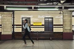 London tube (francesco scaramella) Tags: hallway corridor lobby step businesspeople parkinggarage door skylight escalator staircase urban metro london running inside urbanexploration streetphotography woman nikond90 bakerstreet underground tube station colorimage