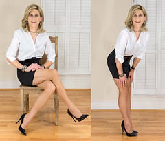 IMG_6081+6095_f:  Sexy secretary? (AlexandraCollins) Tags: crossdresser crossdress crossdressing heels legs pantyhose stockings secretary