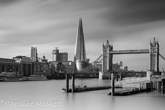 IMG_2687 (carolinemockett) Tags: london shard tower bridge thames black white