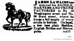 1833 James Lawliss saddle manufacture - 18 washington street (ave) and  96 state st (albany group archive) Tags: 1830s old albany ny vintage photos picture photo photograph history historic historical