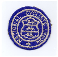 National Cyclists' Union Patch. (Paris-Roubaix) Tags: national cyclists union cloth patch embroidered vintage cycling badges ncu blrc british league racing bcf federation