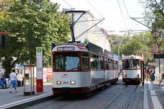 2018-09-19, Freiburg, Stadttheater (Fototak) Tags: tram strassenbahn vag freiburg germany düwag ligne1 ligne5 210 211