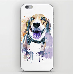 Sweet Beagle iPhone Skin (marianv2014) Tags: beagle dog pet beagles dogs pets sweet cute happy portrait painting watercolor aquarelle fineart dogpainting watercoloranimal animalart splashes splatters drippingpaint watercolour beautiful blue orange purple mammal mammals artgifts affordableart modernart creatures illustration artwork art contemporary zoology single iphone skins