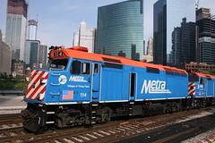 METX 114 (dangaken) Tags: metx114 metra rta chicagoriver chicago chi il illinois rail railroad train commuter commuterrail metx107 trumptower f40ph f40 emd emdf40ph villageoftinleypark 300wackerdrive riverpoint wolfpoint 444wlakest metra114 metraf40ph114 metraf40ph
