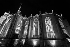Lebuinus Kerk bij nacht (paulbunt60) Tags: avondnacht deventer kerk church lebuinus nightphotography nachtfotografie blackwhite blackandwhite