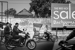 Red Hot Sale (*trevor) Tags: agra asia fujifilm india redhotsale rickshaws travelphotography xt2