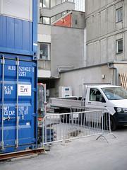 Die Baustelle. / 16.11.2018 (ben.kaden) Tags: berlin berlinmitte kleinealexanderstrase hausdesberlinerverlages baustelle 2018 16112018 architekturderddr ostmoderne