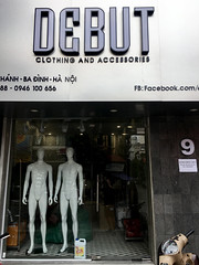 Debut (cowyeow) Tags: hanoi vietnam asia asian shop store debut funny street urban city sign funnysign naked clothing