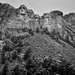The Clouds Were Clearing to Take in Mount Rushmore and the Faces of Four Presidents (Black & White)