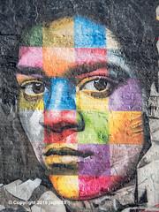 """Jean-Michel Basquiat"" Detail of ""Mount Rushmore"" Mural (2018) by Eduardo Kobra, Chelsea, New York City (jag9889) Tags: 10av 10ave 10thavenue 2018 20181203 andywarhol architecture artist brazil building chelsea color detail diner eduardokobra empirediner face frida fridakahlo graffiti house kahlo keithharing kobra manhattan mexican monumental mountrushmore mural muralist ny nyc newyork newyorkcity outdoor painter painting portrait streetart streetartist tagging tenthavenue usa unitedstates unitedstatesofamerica wall jag9889"