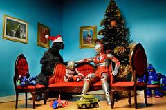 Perfect family Christmas. (vicari8) Tags: ultraman godzilla christmas xmas tetsujin 28 toys happy bandai